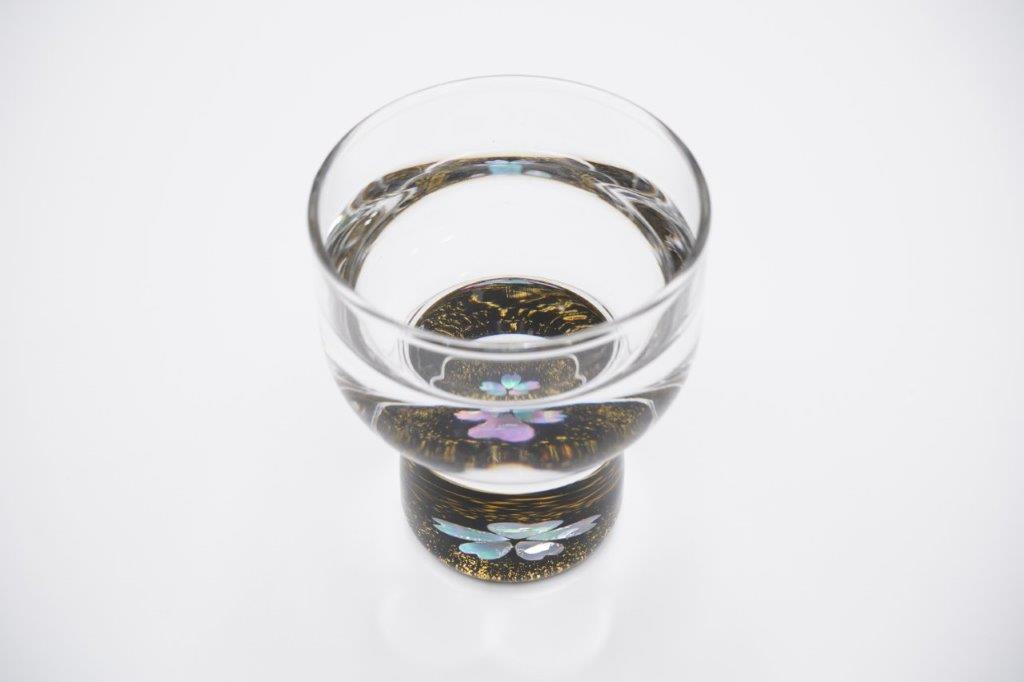 杯 金桜(貝入)黒