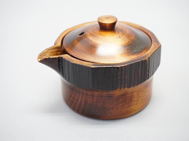 ケヤキ茶托3.5寸 庄川挽物
